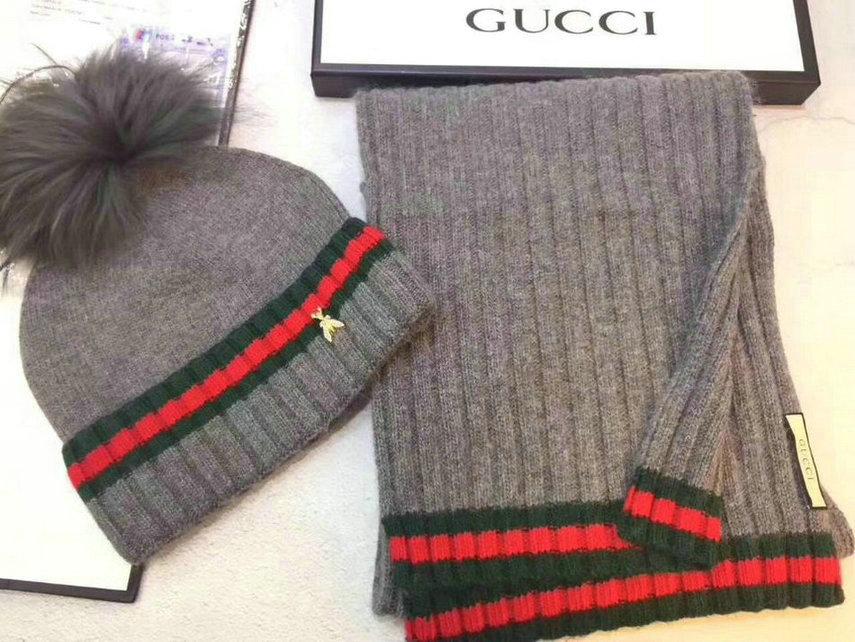 Wholesale Fashion GUCCI Women Hat Set-021