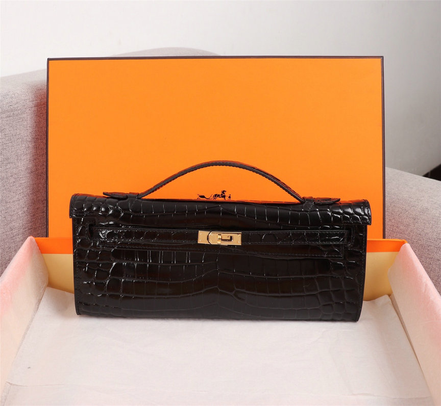 Wholesale Cheap Hermes Kelly Crocodile Clutch for sale