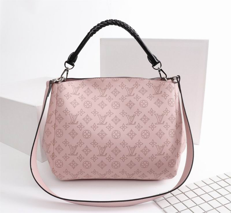 Wholesale Cheap Louis Vuitton Babylone PM Mahina Leather Handbags for sale