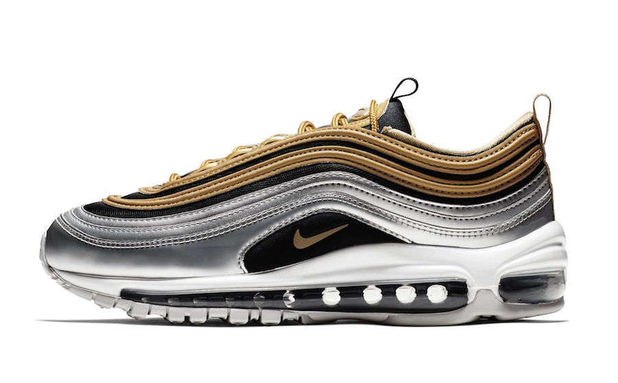Nike Wmns Air Max 97 SE Metallic Gold  / black / silver AQ4137-700