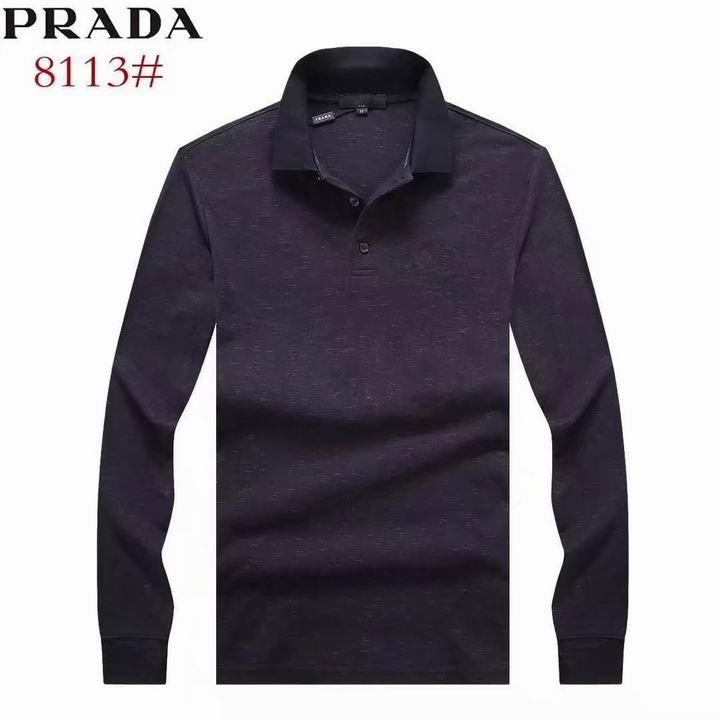 Wholesale Replica Prada Lapel T-Shirts-007