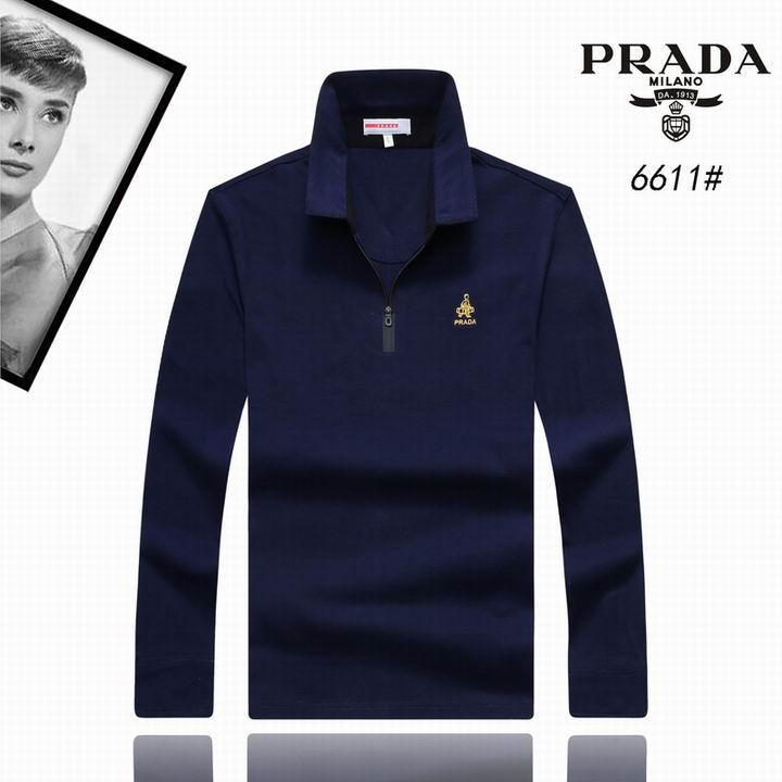 Wholesale Replica Prada Lapel T-Shirts-001
