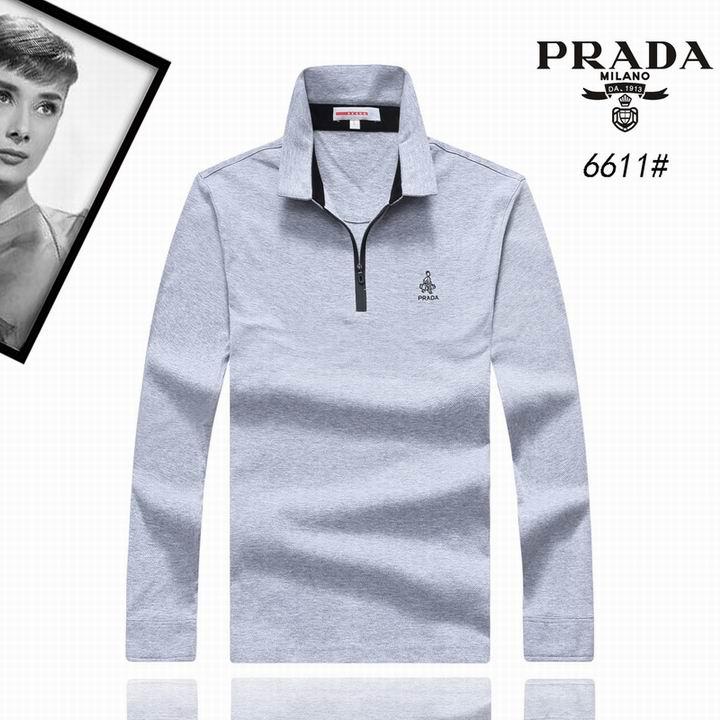 Wholesale Replica Prada Lapel T-Shirts-003