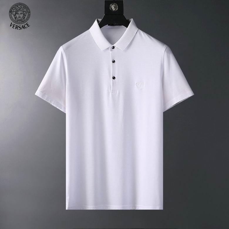 Wholesale Cheap V ersace polo Short Sleeve Lapel T shirts for sale