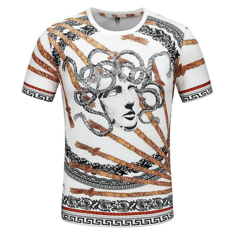 Wholesale Cheap Mens Versace Round Neck T Shirts for Sale