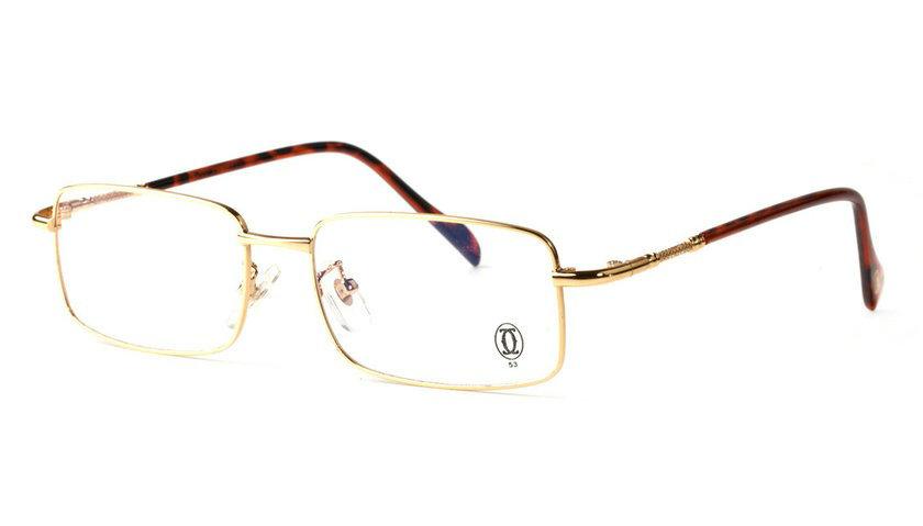 Wholesale Replica Cartier Full Rim Metal Eyeglasses Frame for Sale-012