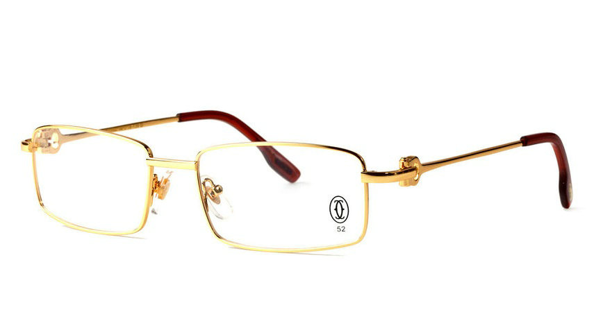 Wholesale Replica Cartier Full Rim Metal Eyeglasses Frame for Sale-014
