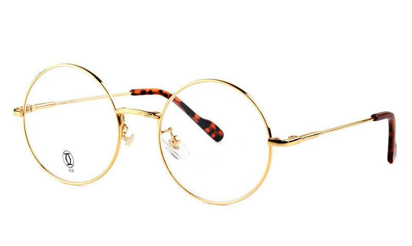 Wholesale Replica Cartier Full Rim Metal Eyeglasses Frame for Sale-016