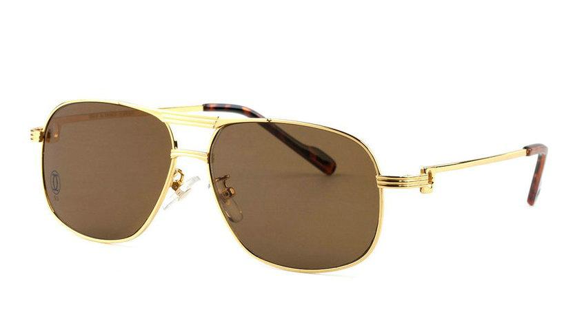 Wholesale Replica Cartier Full Rim Metal Glasses for Sale-035