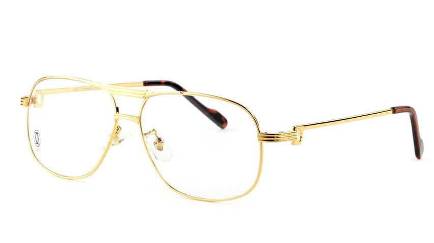 Wholesale Replica Cartier Full Rim Metal Eyeglasses Frame for Sale-036