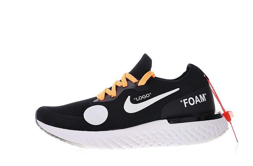 Off white x Nike Epic React Flyknit OW black Shoes AQ0070-803
