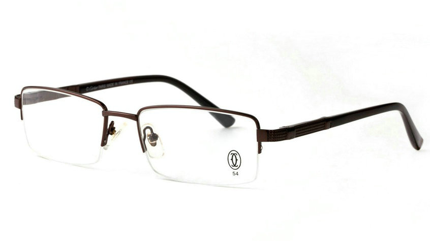 Wholesale Cheap Replica Cartier Metal Memory Plastic Glasses Frames For Sale-034