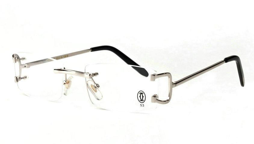 Wholesale Cheap Cartier Replica Rimless Glasses Frames for Sale-009